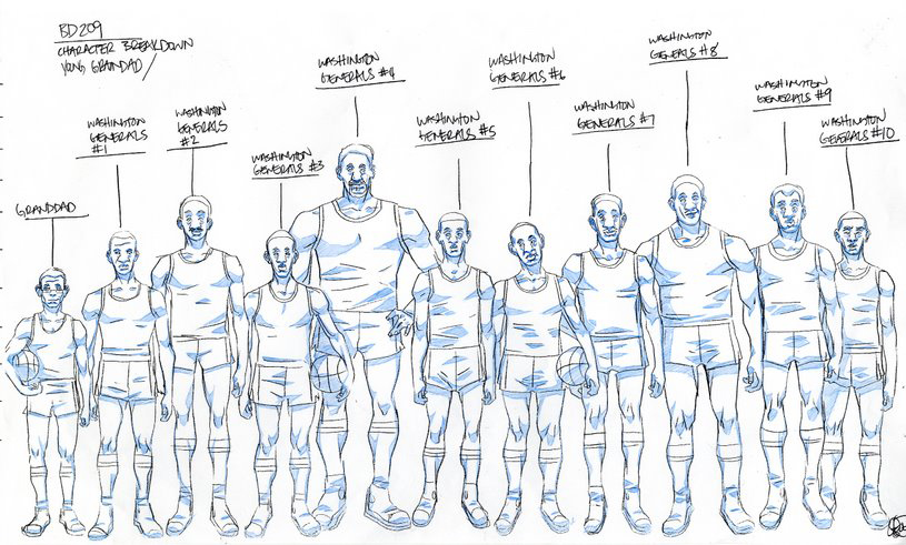 Character Design Layout : The boondocks production art of lesean thomas