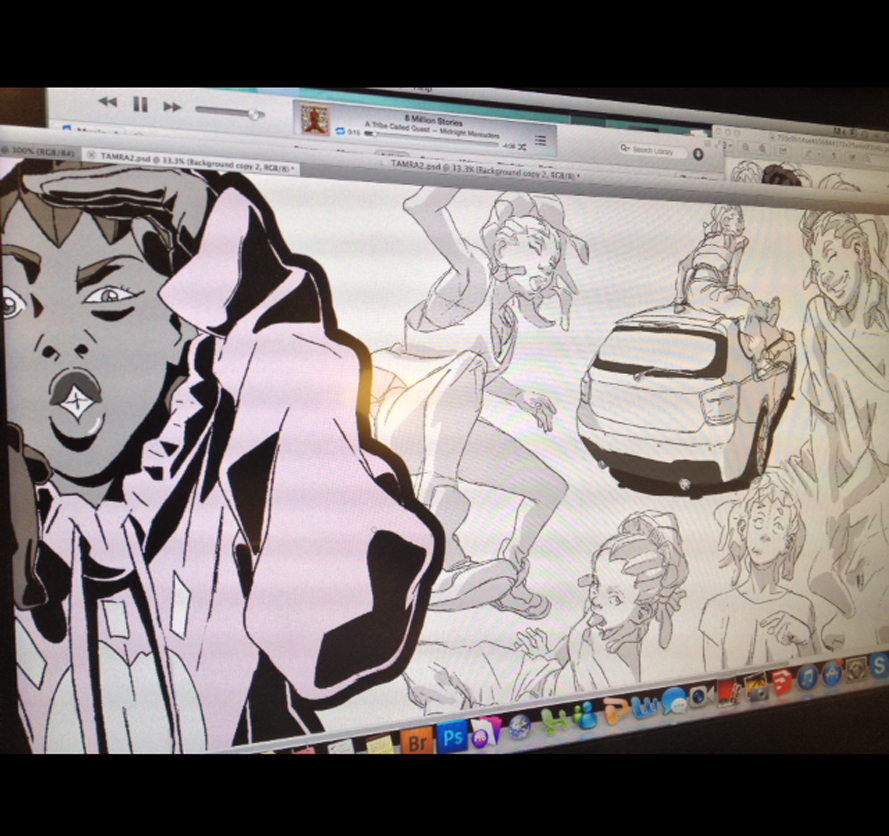 THE FOREIGN EXCHANGE: Art of LeSean Thomas Vol.3 sneek peak